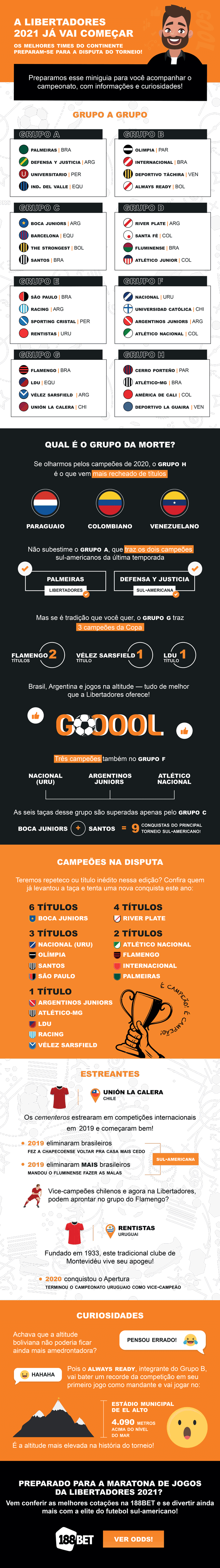 Infográfico Libertadores
